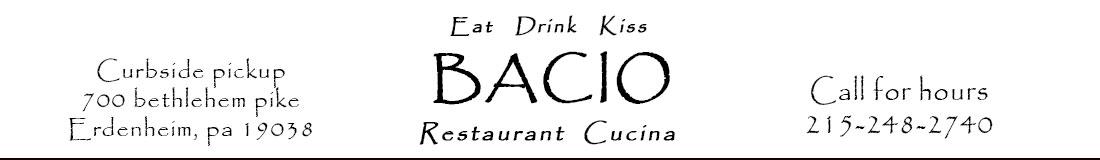 Bacio Italian Cucina – Make a Reservation